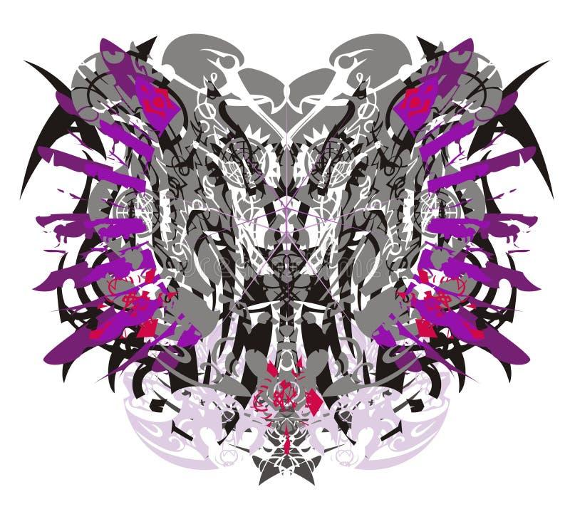 Abstrakter ethnischer Schmetterling mit Adlerelementen vektor abbildung