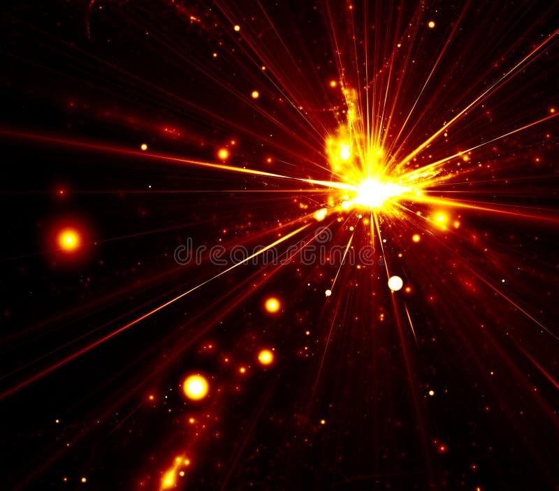Abstrakter Explosionhintergrund vektor abbildung
