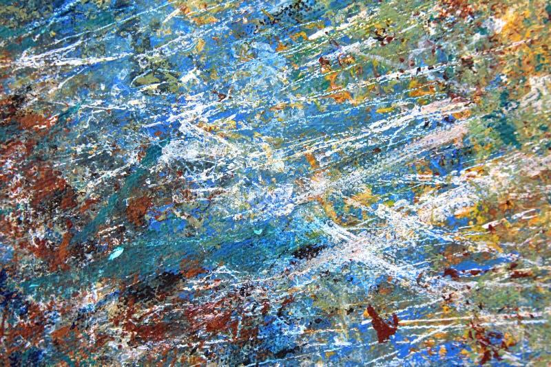 Abstrakter Expressionist gemalte handgemalte Kunst des Hintergrundes stockfotografie