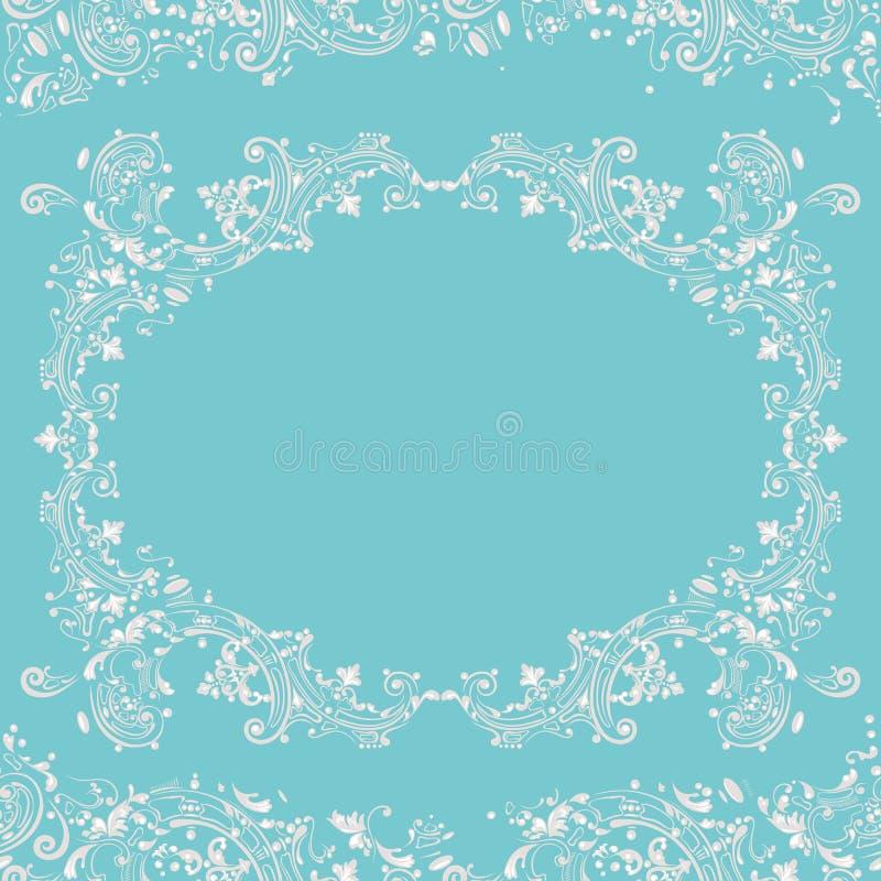 Abstrakter fantastischer Hintergrund, dekorativer Musterrahmen vektor abbildung