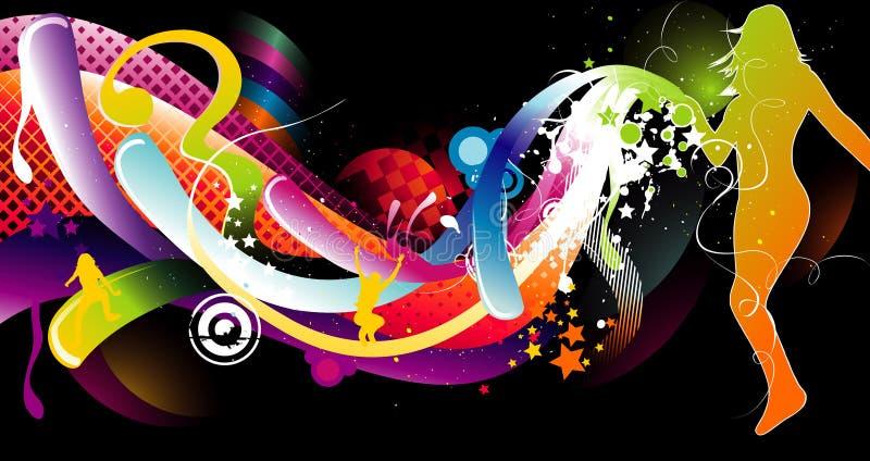 Abstrakter Farbenaufbau vektor abbildung