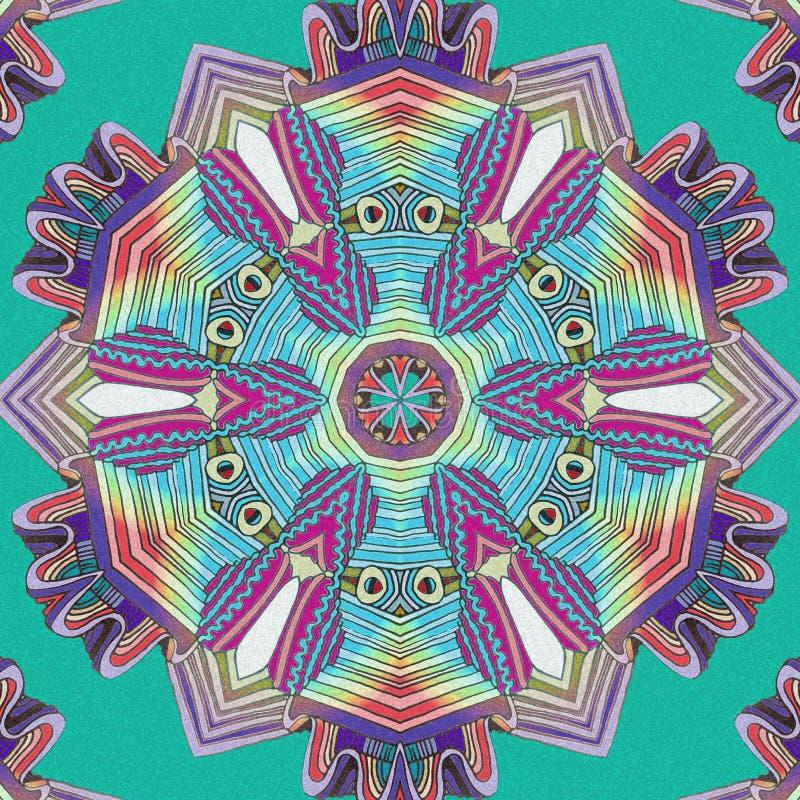Abstrakter Farbenhintergrund Kunst, die Hilfsmittel herstellt stock abbildung