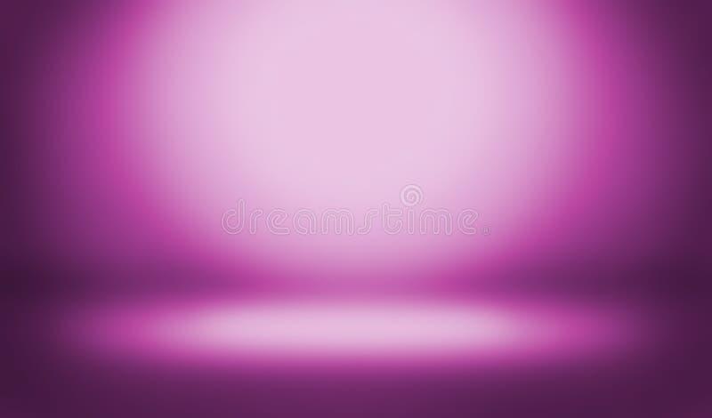 Abstrakter Farbenhintergrund leere Raumstudios quellen Gebrauch als backdr hervor stock abbildung