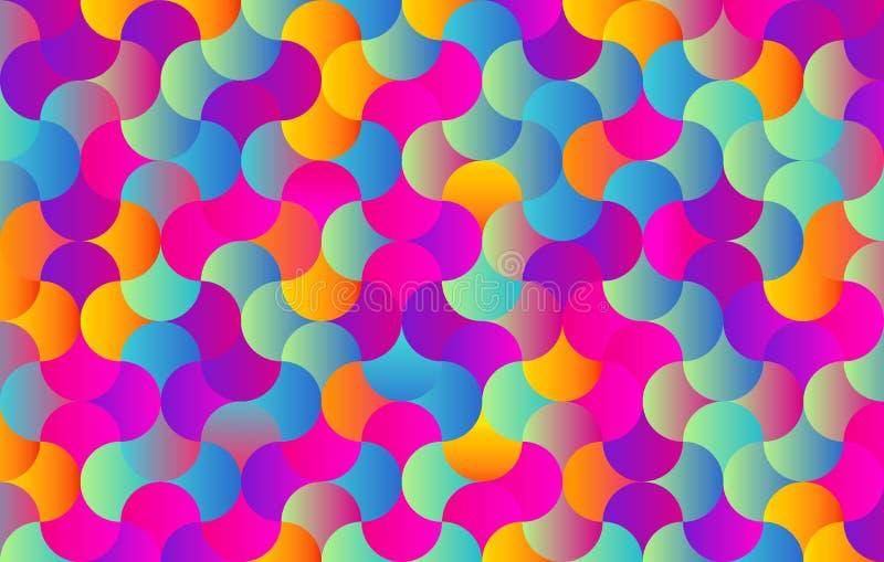 Abstrakter Farbhintergrund für Entwurf - Vektor - Stücke in einem Puzzlespiel lizenzfreie abbildung