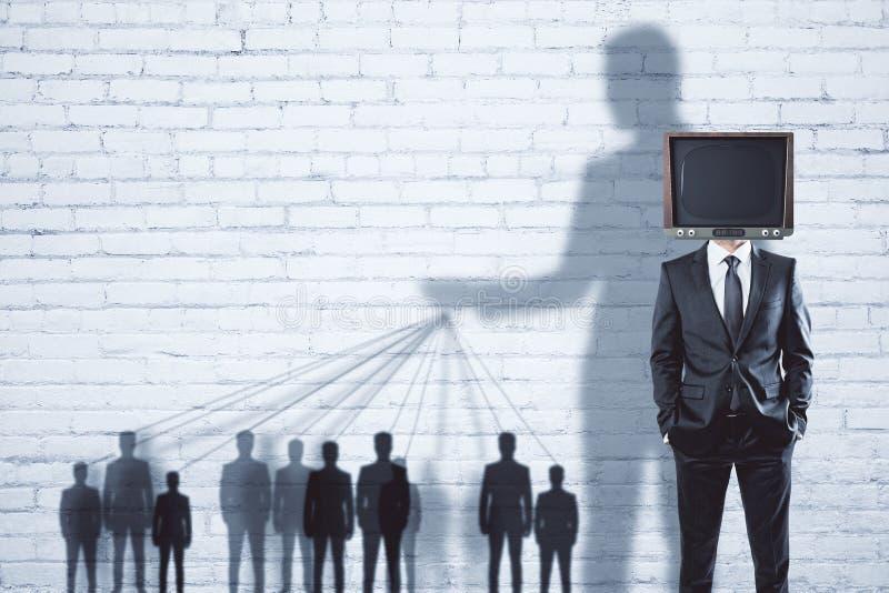 Abstrakter Fernsehgehirnwäschehintergrund lizenzfreie stockfotografie