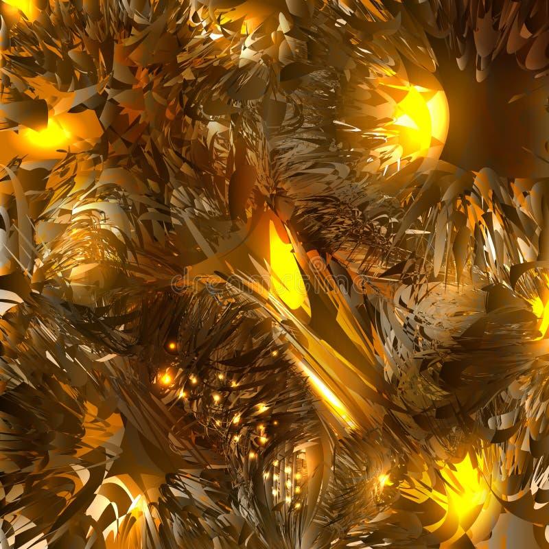 Abstrakter Feuerphantasiehintergrund vektor abbildung