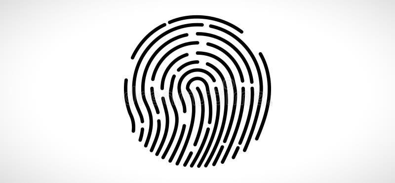 Abstrakter Fingerabdrucktechnologie-Geschäftshintergrund Stromkreissicherheitsart lizenzfreie abbildung