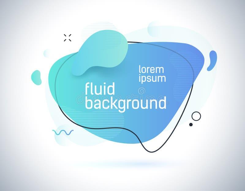 Abstrakter flüssiger Farbhintergrund Futuristische modische dynamische Elemente Moderne Steigung für Ihren Entwurf vektor abbildung
