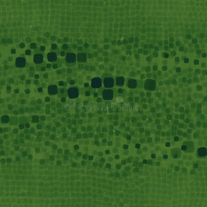 Abstrakter Fluss der dreidimensionalen Kastenansicht durch schlammiges Glas Wiedergabe 3d lizenzfreie abbildung