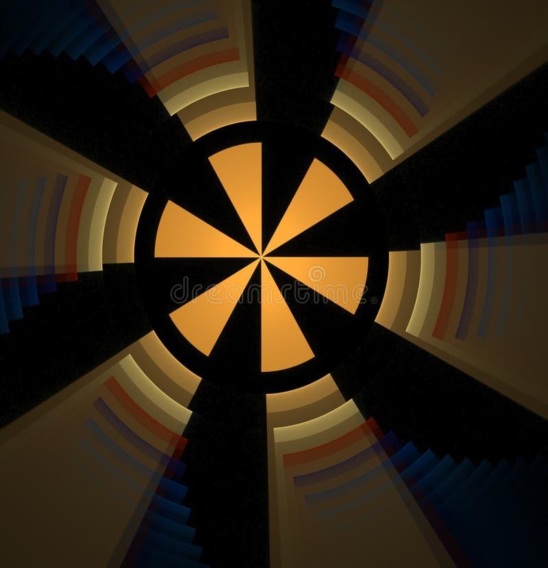 Abstrakter Fractal farbiger gelber Hintergrund stockfotografie