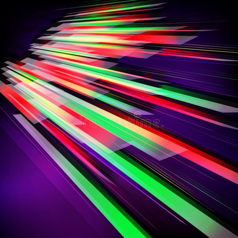Abstrakter Fractalhintergrund mit verschiedenen Farblinien und Streifen lizenzfreie abbildung