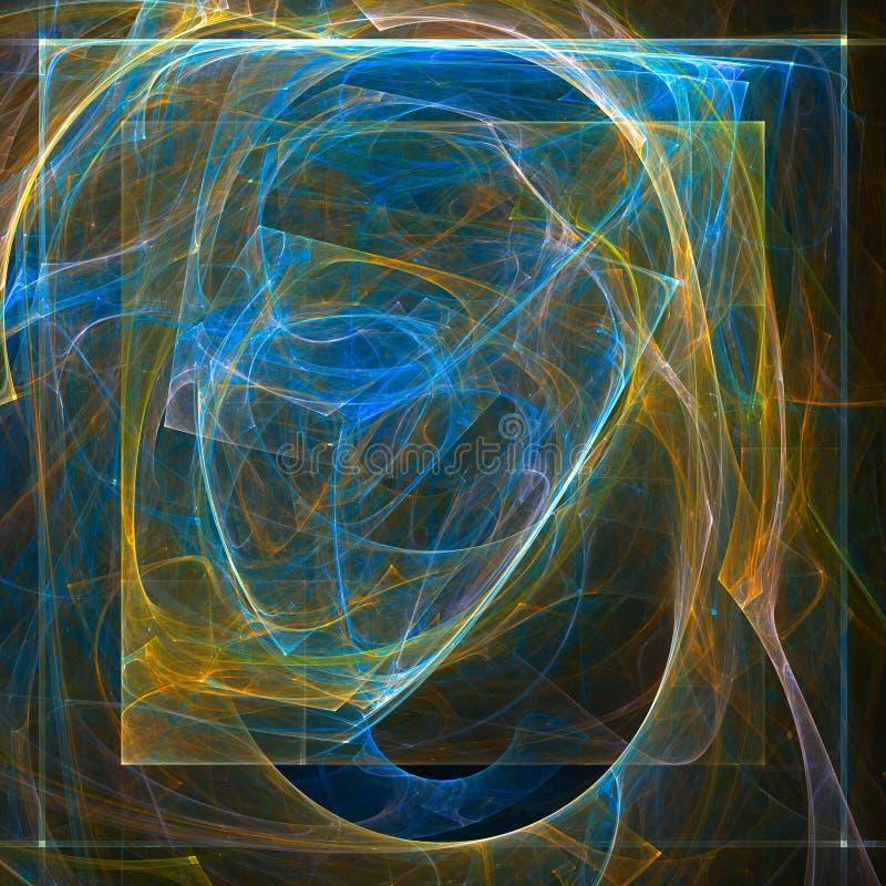 Abstrakter Fractalhintergrund mit verschiedener Farbe lizenzfreie abbildung