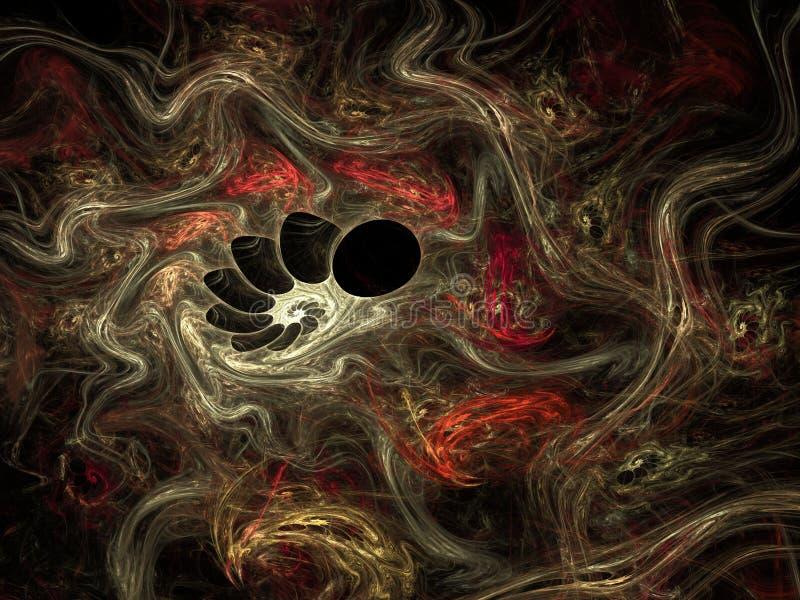 Abstrakter Fractalphantasiehintergrund - Illustration 3d lizenzfreie abbildung
