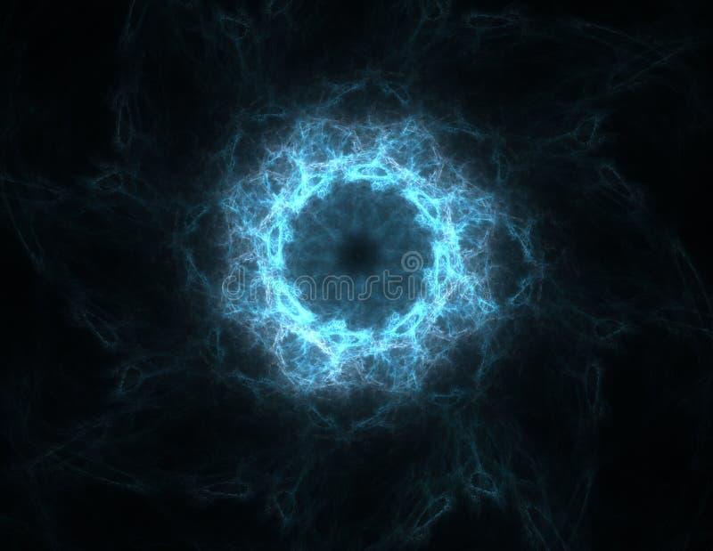 Abstrakter Fractalschiffbruch, digitale Grafik für kreatives Grafikdesign vektor abbildung
