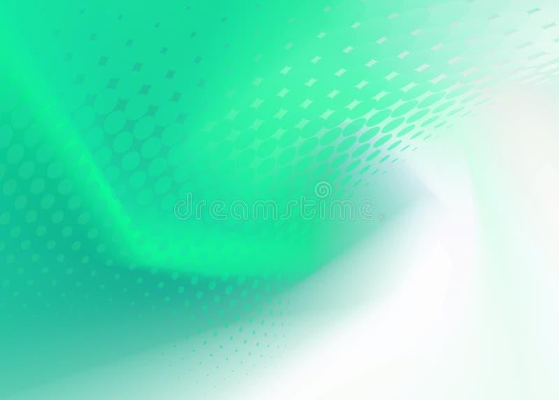 Abstrakter frischer grüner Dot Swirl Background stock abbildung