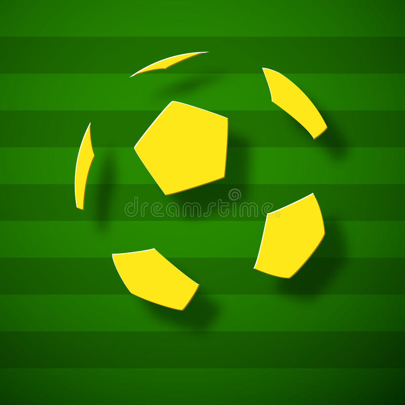 Abstrakter Fußball auf einer Neigung stock abbildung