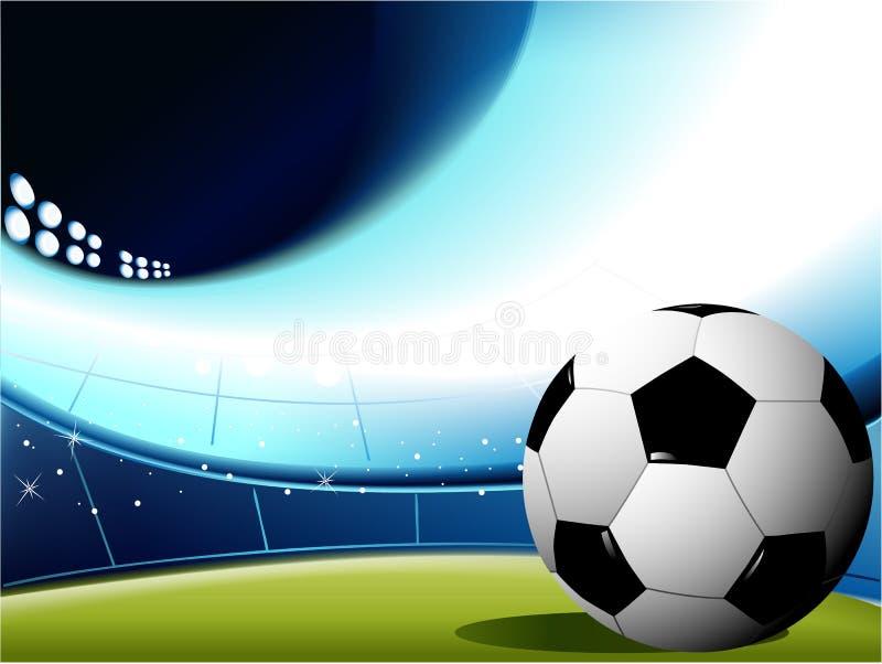Abstrakter Fußballhintergrund stock abbildung