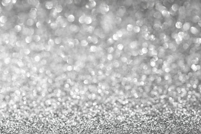 Abstrakter Funkelnsilberhintergrund stockfotografie