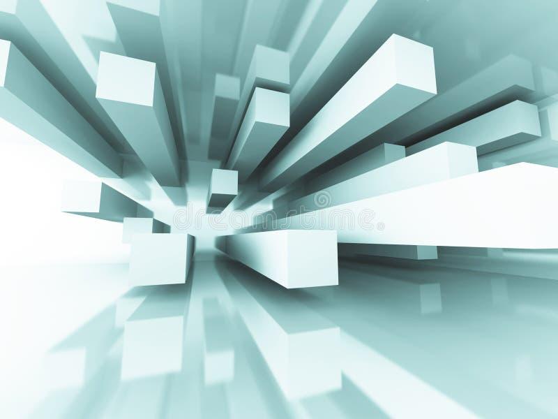 Abstrakter futuristischer Architektur-Element-Design-Hintergrund lizenzfreie abbildung