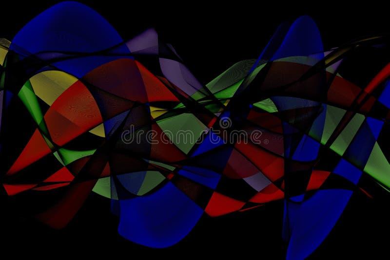 Abstrakter futuristischer Fractalhintergrund vektor abbildung