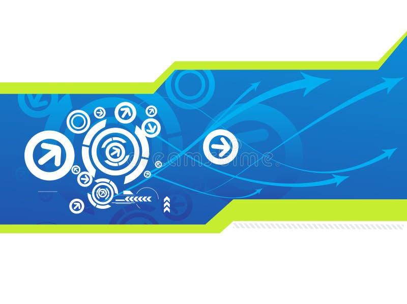 Download Abstrakter Futuristischer Hintergrund Vektor Abbildung - Illustration von schlaufe, grunge: 9089475