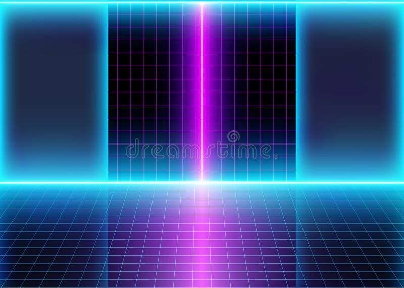 Abstrakter futuristischer Innenraum vektor abbildung