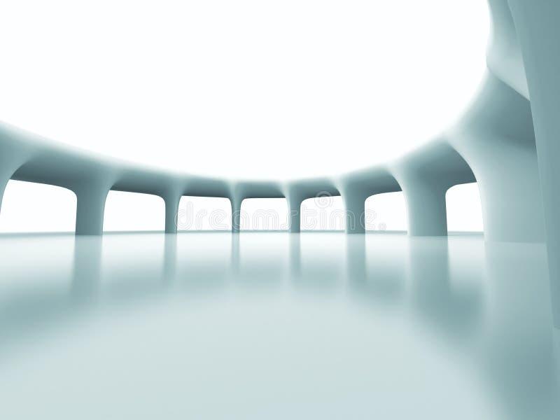 Abstrakter futuristischer Spalten-Architektur-Hintergrund lizenzfreie abbildung