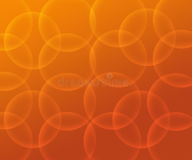 Abstrakter gelb-orangeer Hintergrund mit Blasen und Kreisen lizenzfreie abbildung