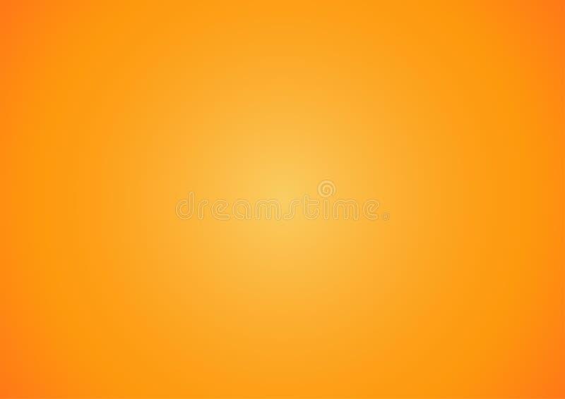 Abstrakter gelber und orange Steigungsdesignhintergrund, Halloween-Themakonzept lizenzfreie abbildung