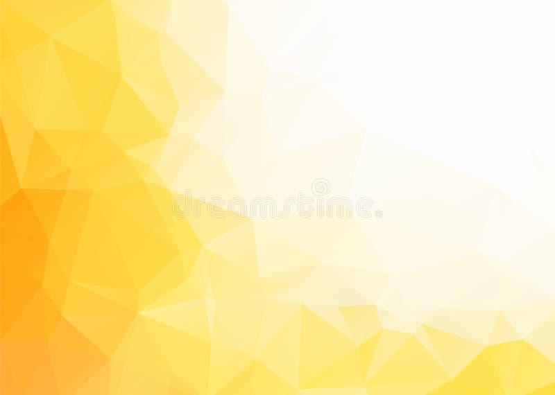 Abstrakter gelber weißer Hintergrund des Vektors lizenzfreie abbildung