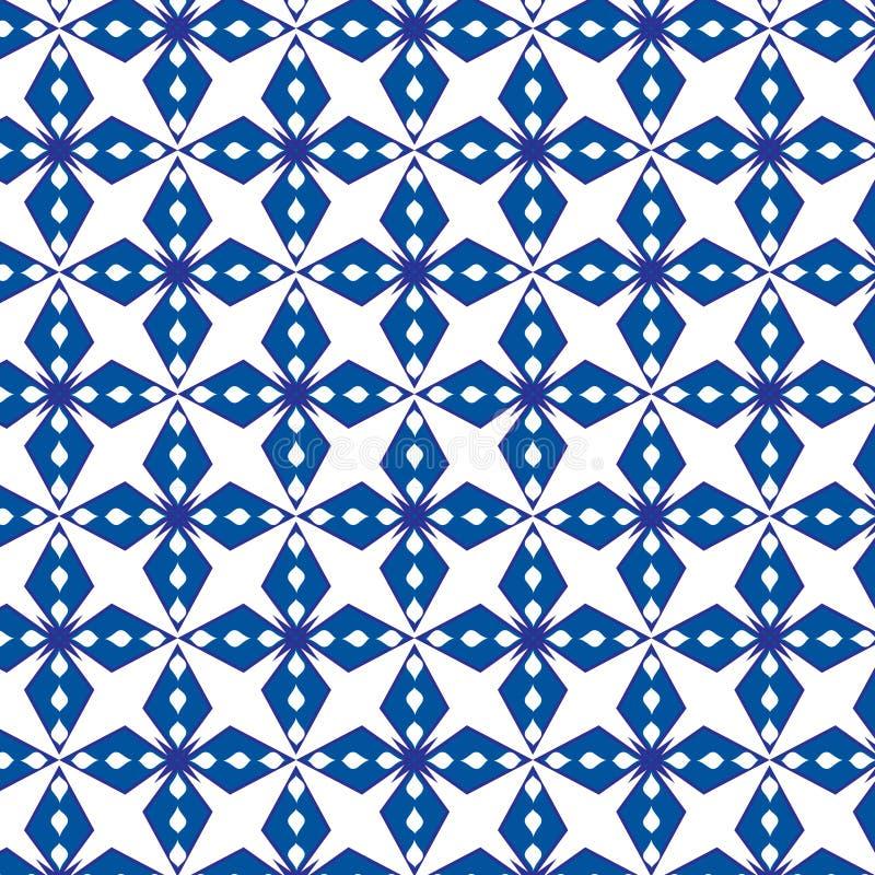 Abstrakter geometrischer blauer Mustervektorhintergrund vektor abbildung