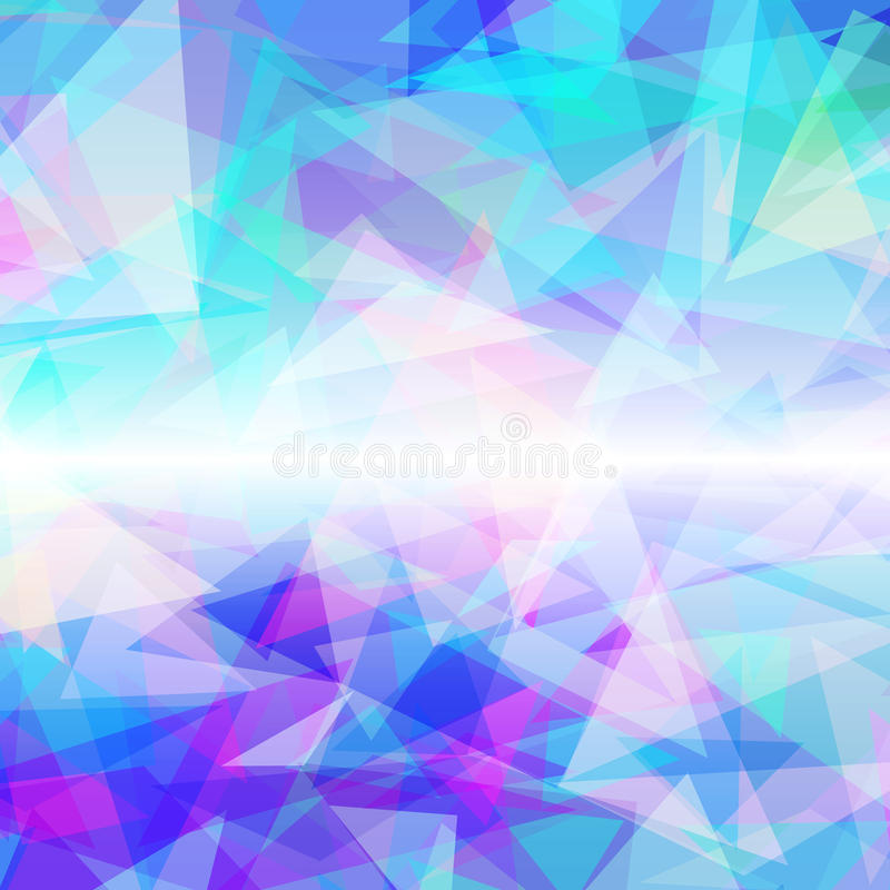 Abstrakter geometrischer bunter Hintergrund stock abbildung