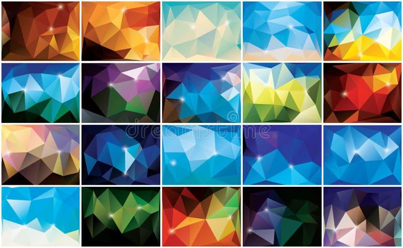 Abstrakter geometrischer bunter Hintergrund, Musterdesign lizenzfreie abbildung