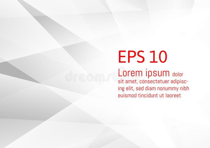 Abstrakter geometrischer grauer und weißer Hintergrund, modernes Design ENV 10 der Vektorillustration stock abbildung