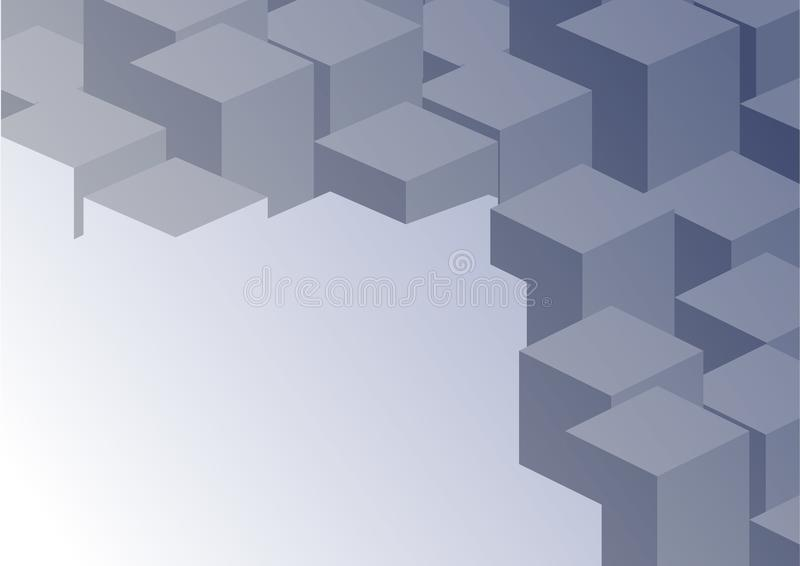 Abstrakter geometrischer Hintergrund der Form 3D des Vektors stock abbildung