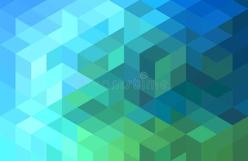 Abstrakter geometrischer Hintergrund des blauen Grüns, Vektor lizenzfreie abbildung