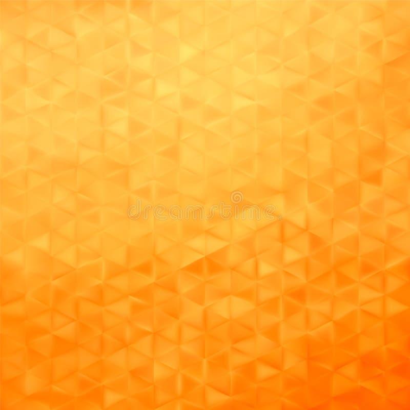 Abstrakter geometrischer Hintergrund - goldene triangtes stock abbildung
