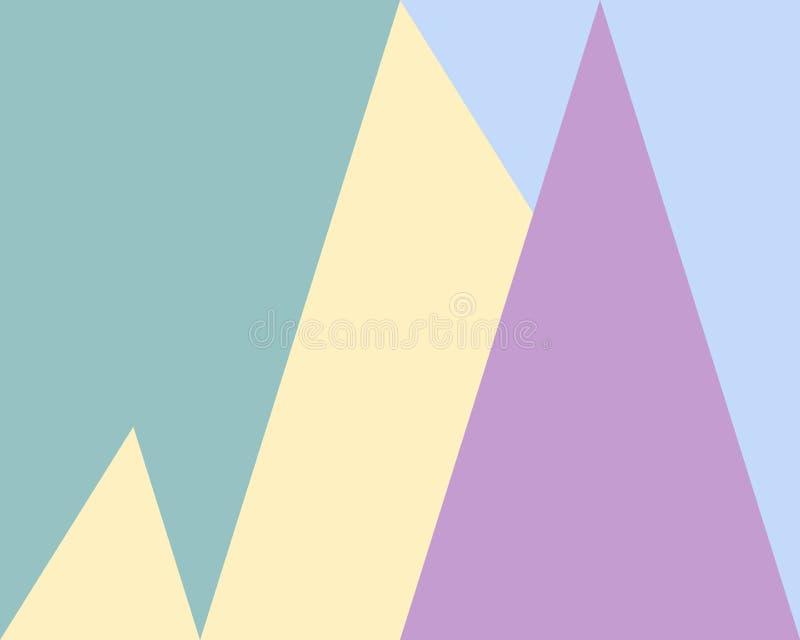 Abstrakter geometrischer Hintergrund, grün-blaue lila gelbe Dreiecke des Musters lizenzfreie abbildung