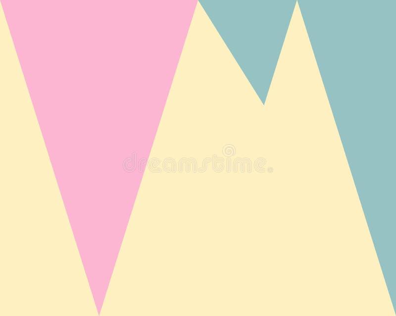 Abstrakter geometrischer Hintergrund, grünes rosa gelbes Dreieckmuster lizenzfreie abbildung
