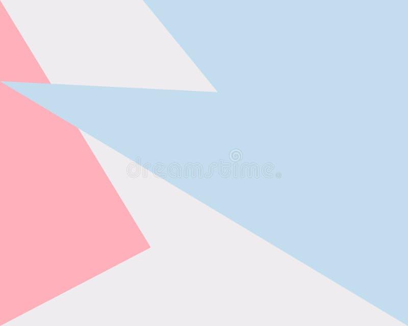 Abstrakter geometrischer Hintergrund, graue blaue rosa Dreieckform des Musters vektor abbildung