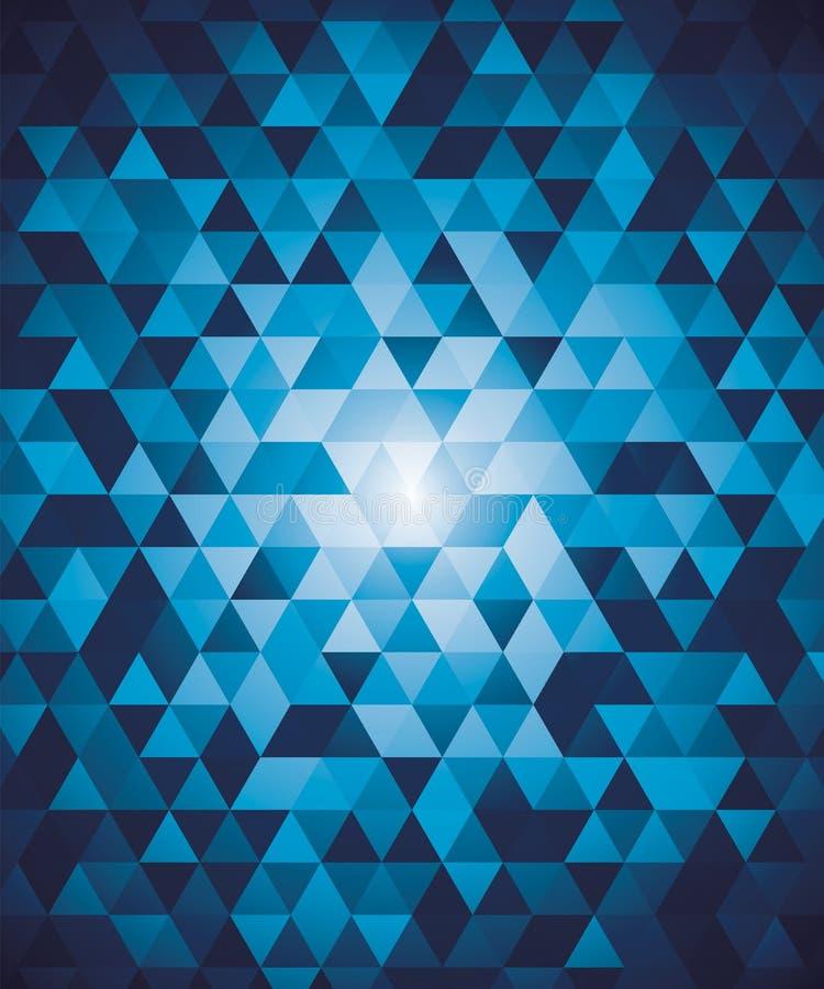 Abstrakter geometrischer Hintergrund mit blauen Dreiecken vektor abbildung