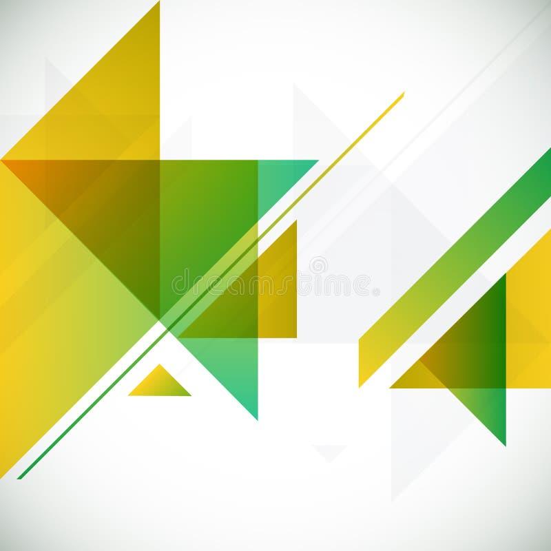 Abstrakter geometrischer Hintergrund mit Dreiecken und vektor abbildung