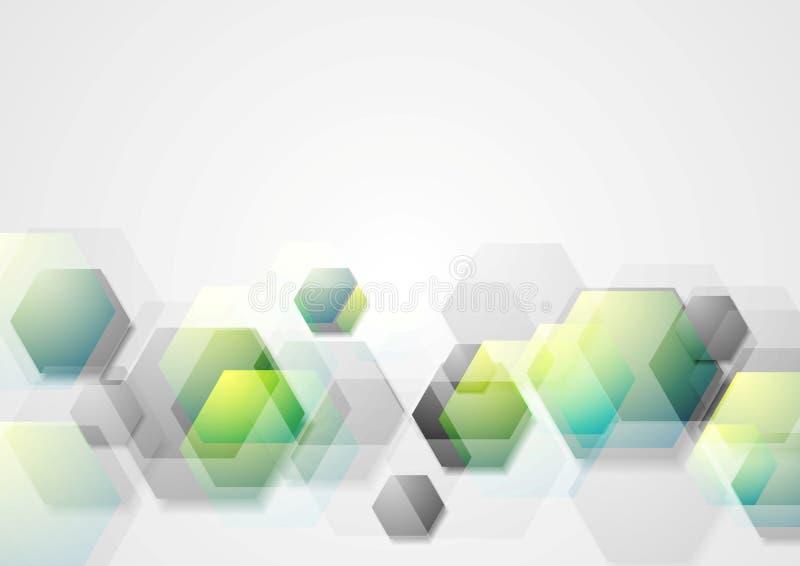 Abstrakter geometrischer Hintergrund mit Hexagonen stock abbildung