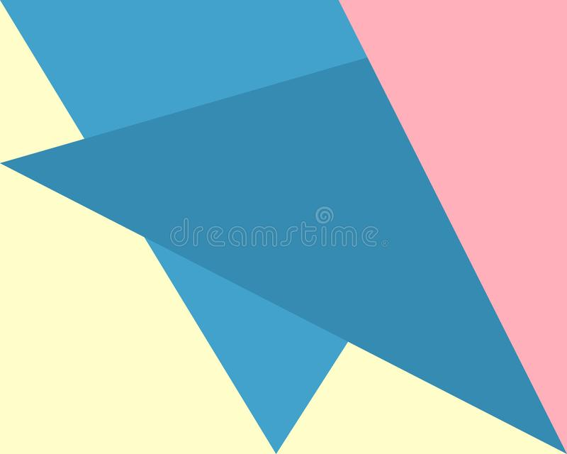 Abstrakter geometrischer Hintergrund, Muster blau, rosa, gelbe Dreieckformen vektor abbildung
