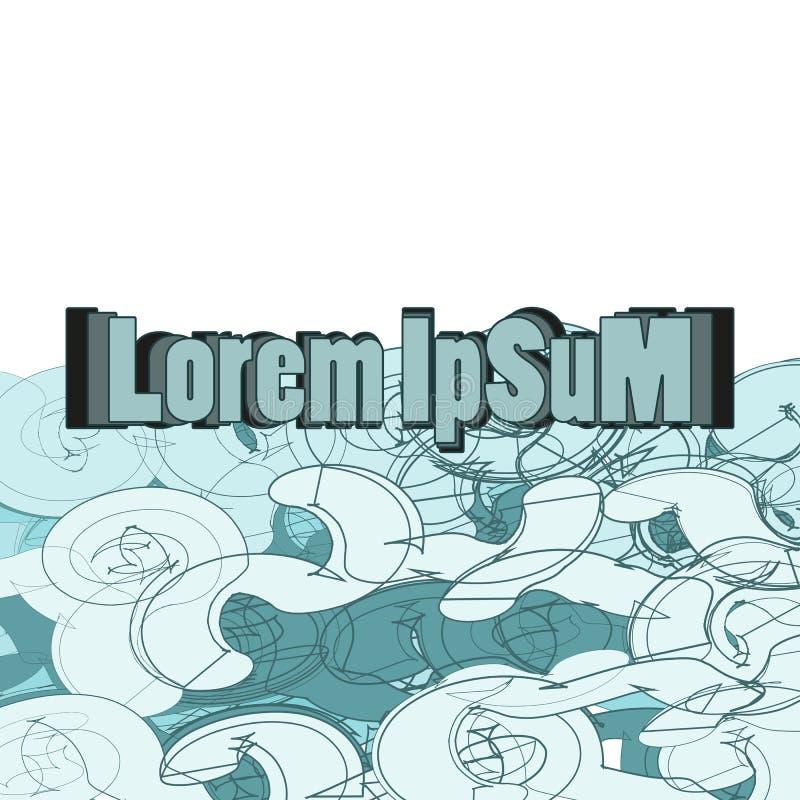 Abstrakter geometrischer Hintergrund von blau-grauen Tönen, Graffiti stock abbildung