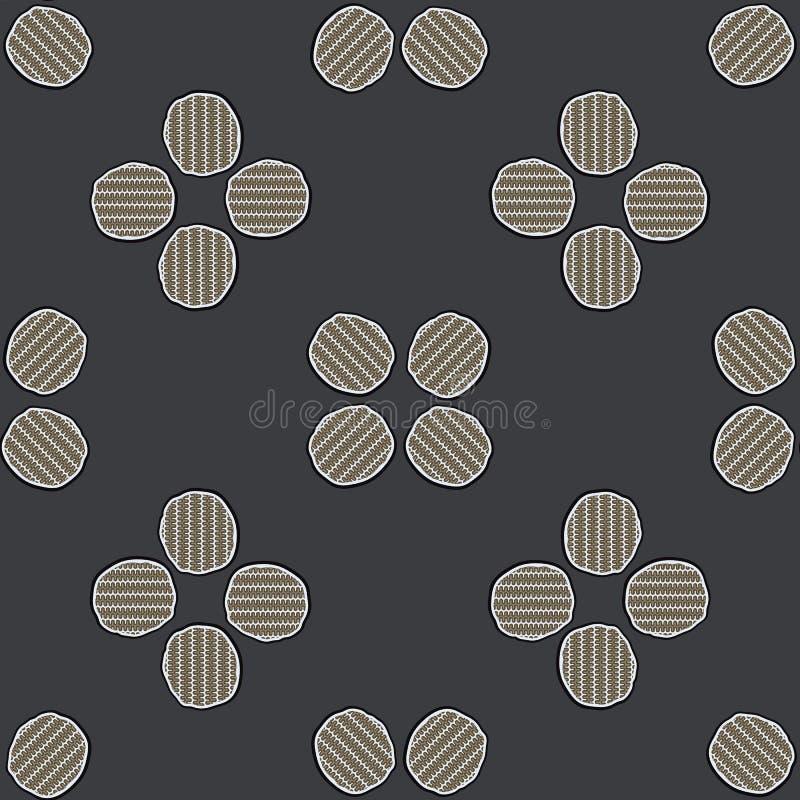 Abstrakter geometrischer Knopf Dot Grid Seamless Vector Pattern vektor abbildung
