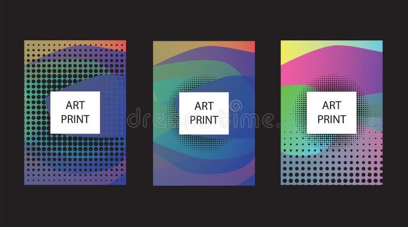 Abstrakter geometrischer Musterhintergrund für Geschäftsbroschüren-Abdeckungsdesign Blaues, gelbes, rotes, orange, rosa und grüne stock abbildung