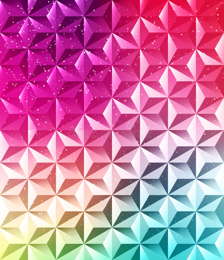 Abstrakter geometrischer polygonaler glänzender Hintergrund stock abbildung