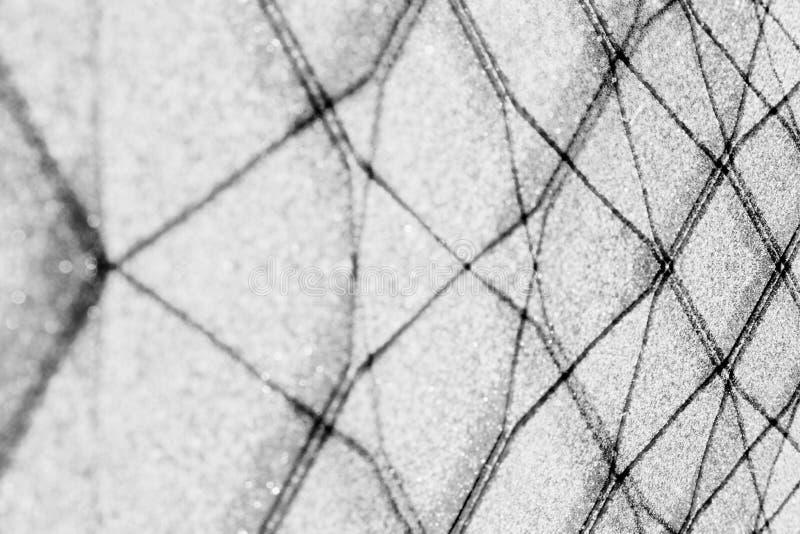 Abstrakter geometrischer Schwarzweiss-Hintergrund mit schwarzen Linien Hintergrund stockfoto