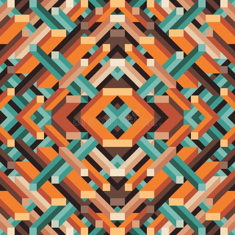 Abstrakter geometrischer Vektorhintergrund für Darstellung, Broschüre, Website und andere Projektplanung Mosaik farbiges Muster stock abbildung